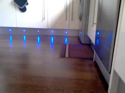 Led plinth lights in kitchen