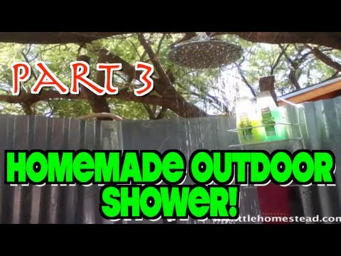 Rain Shower Head for our Homemade Outdoor Shower (Part 3 of 4)