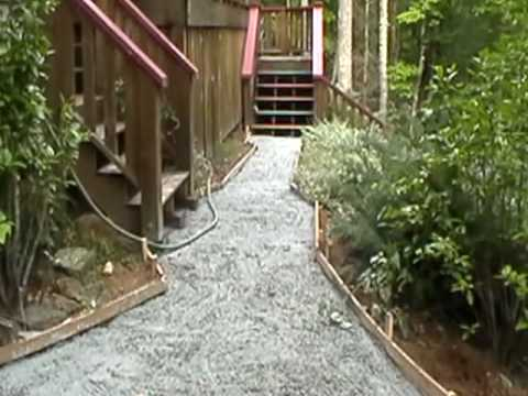 Kennel pad and pathway footers