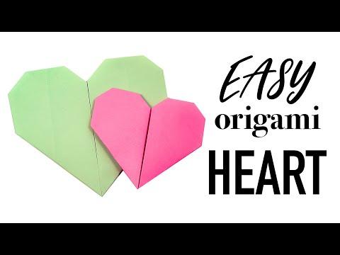 Easy Origami Heart Tutorial ♥︎ DIY ♥︎