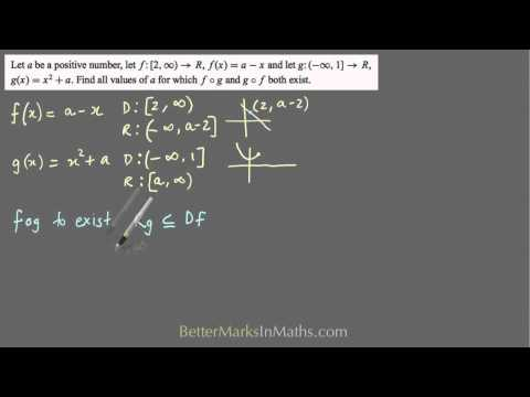 Composite Functions - How to find pronumerals so fog and gof exist-VCE Maths Methods