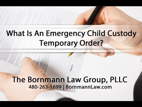What Is An Emergency Child Custody Temporary Order?