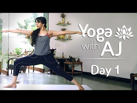 Yoga For Posture Correction | Day 1 | Yoga For Beginners - Yoga With AJ