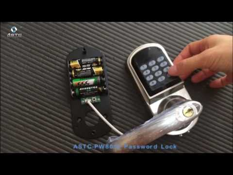ASTC keypad door lock operation instruction PW8015 How to add card user and password user.