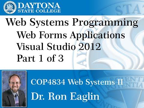Web Programming - Visual Studio 2012 Getting Started Part 1