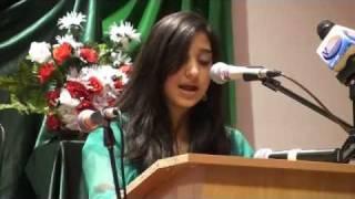 Best Speech by Pakistan girl Savera Anjum....lIke It