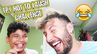 (IMPOSSIBLE HARD) TRY NOT TO LAUGH CHALLENGE WITH MY LITTLE BROTHER!