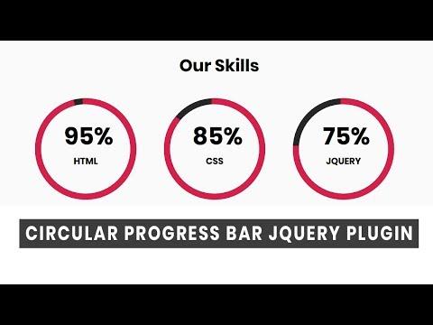 Circular Progress Bar Jquey Plugin | Jquery Plugins Tutorial