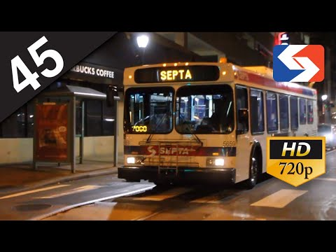 SEPTA Ride: 2003 New Flyer D40LF #5659 on route 45 to Broad-Oregon
