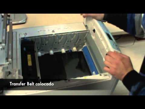 Cómo cambiar el Transfer Belt y el Fusor en una impresora láser OKI