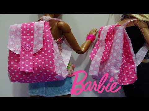 DIY How to make a backpack for doll ( Barbie ,Monster High,EAH   )