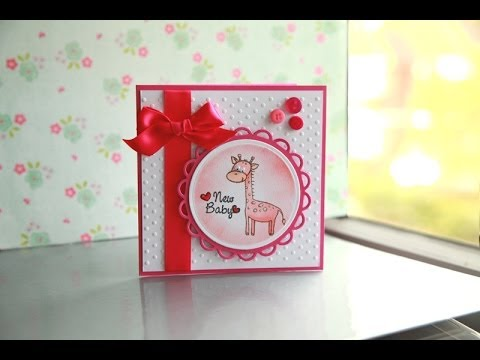 cute and easy baby card tutorial