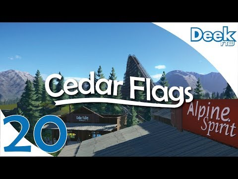 Let's Design Cedar Flags Ep. 20 - Custom Billboards & Signs, Lighting up the Park - Planet Coaster