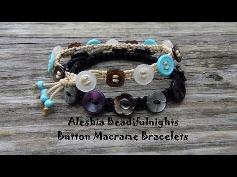 Button Macrame Bracelets Tutorial Part 1