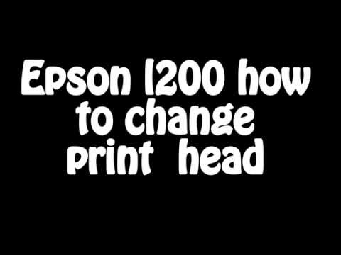 Epson l200 how to change  print  head