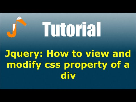 Jquery: How to view and modify css property of a div