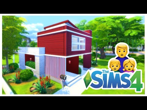 The Small Red Cube House | The Sims 4 House Building