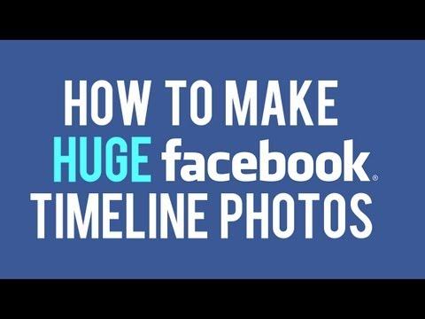 How to Make HUGE Facebook Timeline Images | Facebook Highlighted Photo Album Trick