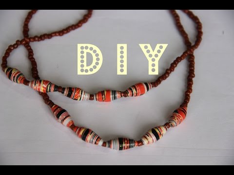 PAPER  BEADS NECKLACE - TUTORIAL