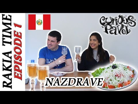 Foreigners taste RAKIA- Bulgarian National Drink ft PiesySuelo (Peru)