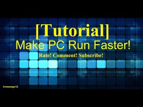 How to make your pc run faster\vista\wins 7\windows 2000\wind s xp