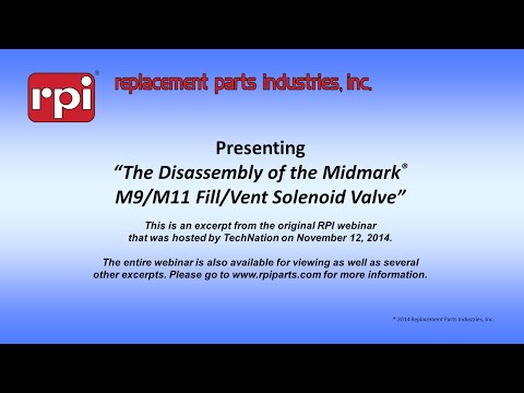 The Disassembly of the Midmark® M9 & M11 Fill/Vent Solenoid Valve