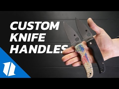 Zac's New Micarta Spyderco Shaman!   Making Custom Knife Handles