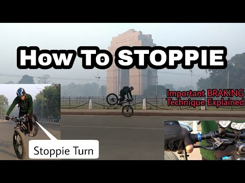 How to STOPPIE MTB | Easiest Technique | Stoppie Turn | Rolling endo?