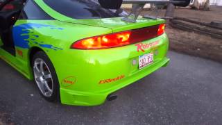 1998 Eclipse Fast and Furious replica new exhaust!