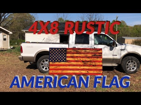 4x8 Rustic American Flag Project