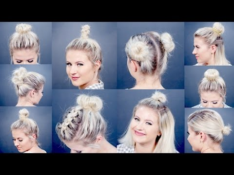 10 EASY Different Bun Hairstyles For Short Hair | Milabu