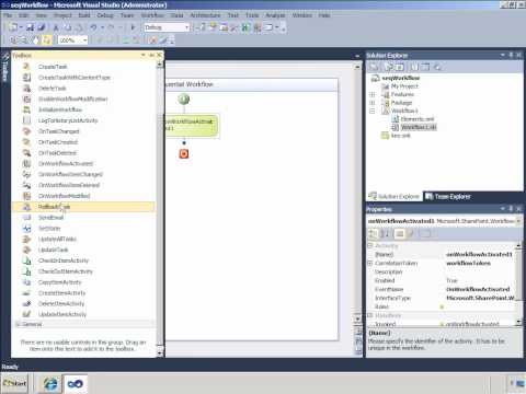 SharePoint: Creating SharePoint 2010 Sequential Workflows in Visual Studio 2010