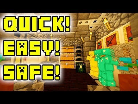 Minecraft Tutorial: Easy Safe Nether Base