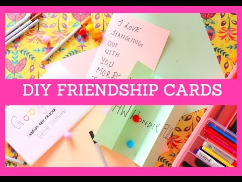 DIY cards for friends   Friendship Day Gift ideas   3 DIY cards for friends   BFF gift ideas