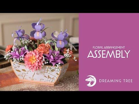 SVG File - Floral Arrangement - Assembly Tutorial