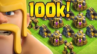 100k SUBS!  40 Walls to Go!  TH10 Farm to Max STREAM HIGHLIGHTS | Clash of Clans
