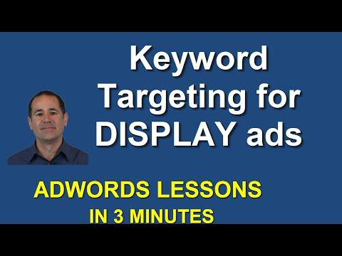 Keyword Targeting for Display ads in AdWords