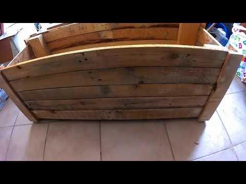 rustic pallet flowerpot SWYTM garden challenge