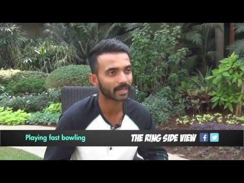 Playing fast bowling