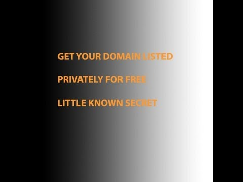 How to get domain privacy for free