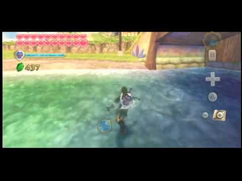 Skyward Sword: Highjump and Highflip out of water!