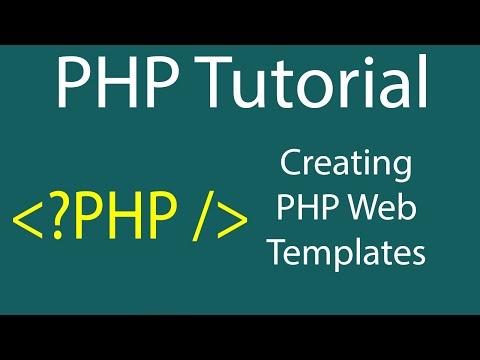 Create PHP Website Template in DreamWeaver