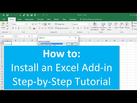 How to Install an Excel Add in