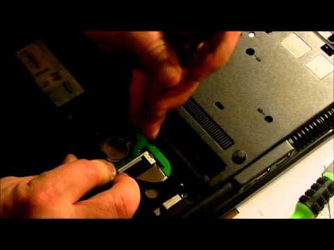 How to remove a Hard Drive and CMOS Battery from an HP / Compaq 6735b Laptop