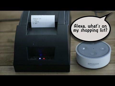Cheap Alexa Printer From An Old Receipt Printer - Weekend Hacker #002