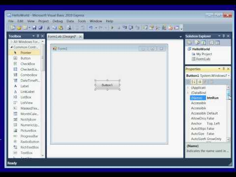 Visual Basic 2010 Tutorial - Lesson 1 Install Visual Studio 2010, Hello World App