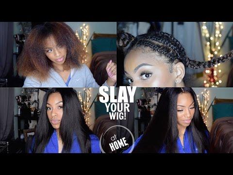 How I Achieve A Flat V/ U Part Wig: Start to Finish Application