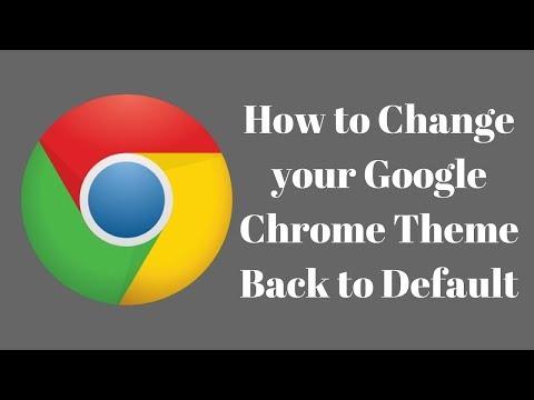 How to restore default Google Chrome Theme