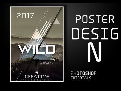 Easy Way to Create Abstract Poster That Impresses Mountains Using Photoshop