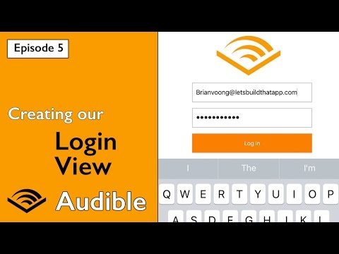 Swift 3: Audible - Creating our Login View and Keyboard Observing (Ep 5)